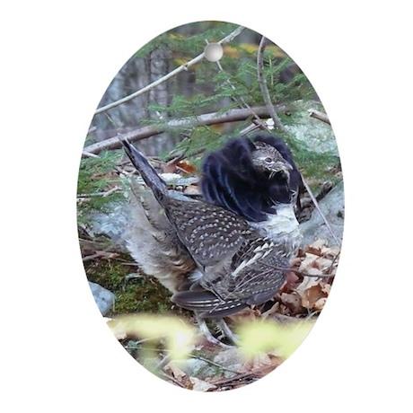 Male Partridge Oval Ornament
