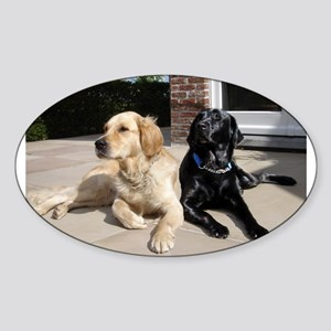 Retrievers Oval Sticker