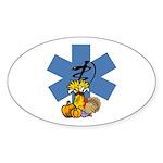 EMS Thanksgiving Sticker (Oval 50 pk)