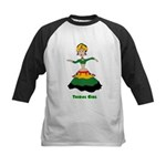Tribal Girl Kids Baseball Jersey