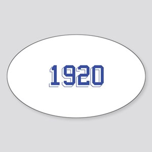 1920 Oval Sticker