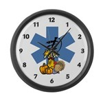 EMS Thanksgiving Large Wall Clock