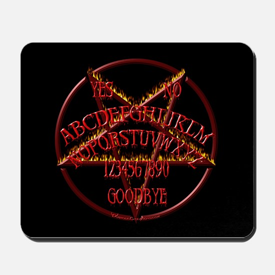 Wicked Pentagram Board Mousepad