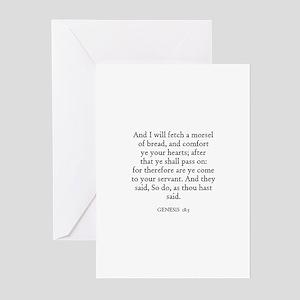 GENESIS  18:5 Greeting Cards (Pk of 10)
