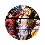 Jesus Scourged at the Pillar Ornament (Round)