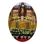 Easter Altar Oval Ornament