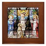 Crucifixion Framed Tile