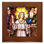 Finding Jesus in the Temple Framed Tile