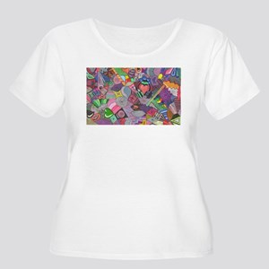 Psychedelic Kollection Women's Plus Size Scoop Nec