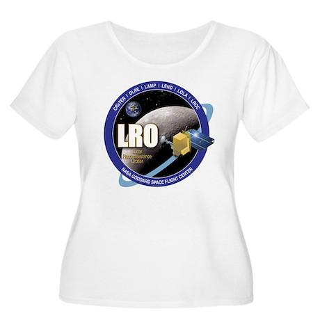 LRO Women's Plus Size Scoop Neck T-Shirt