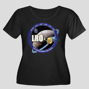 LRO Women's Plus Size Scoop Neck Dark T-Shirt