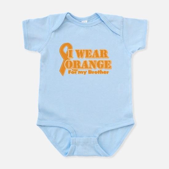 I wear orange brother Infant Bodysuit