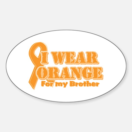 I wear orange brother Oval Decal