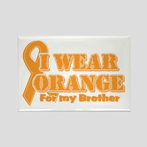 I wear orange brother Rectangle Magnet