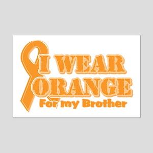 I wear orange brother Mini Poster Print
