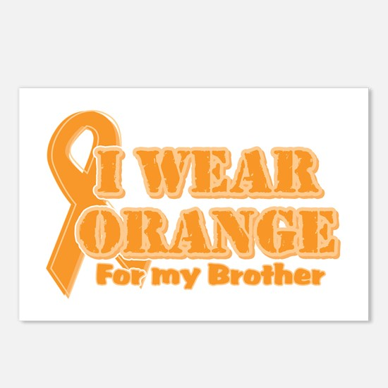 I wear orange brother Postcards (Package of 8)