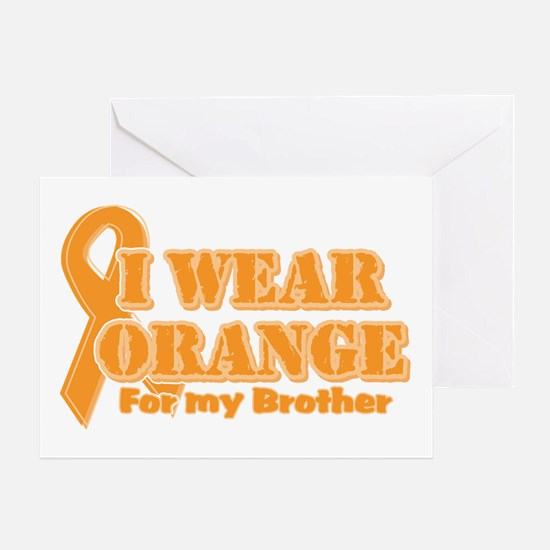 I wear orange brother Greeting Card