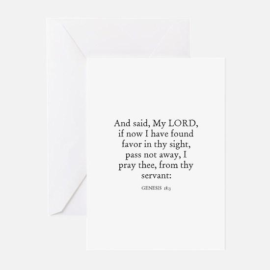 GENESIS  18:3 Greeting Cards (Pk of 10)