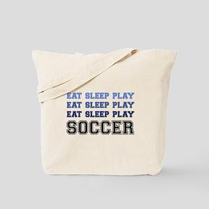 Eat Sleep Play Soccer Tote Bag