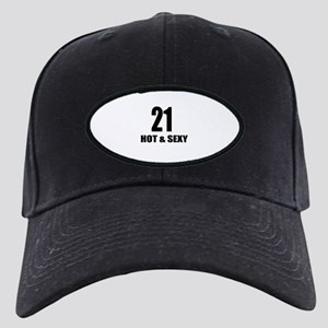 21 Hot And Sexy Birthday Desi Black Cap with Patch