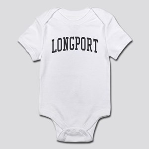 Longport New Jersey NJ Black Infant Bodysuit