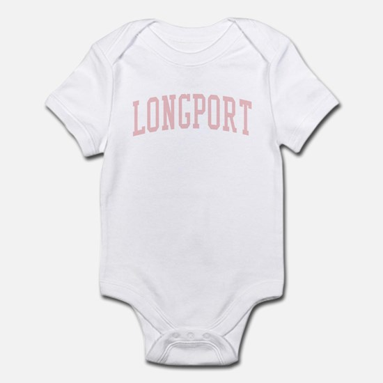 Longport New Jersey NJ Pink Infant Bodysuit