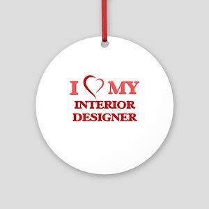 I love my Interior Designer Round Ornament