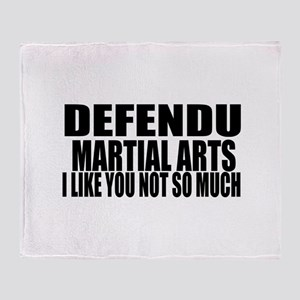 Defendu I Like You Not So Much Throw Blanket