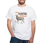 Hunting with Grandpa White T-Shirt