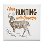 Hunting with Grandpa Tile Coaster