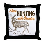 Hunting with Grandpa Throw Pillow