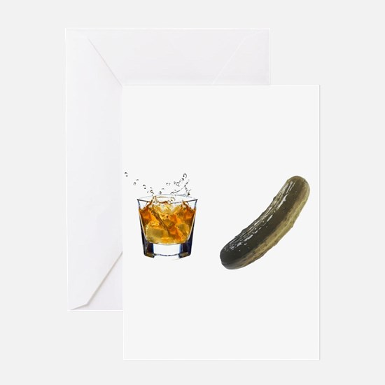 whiskey pickle Greeting Card