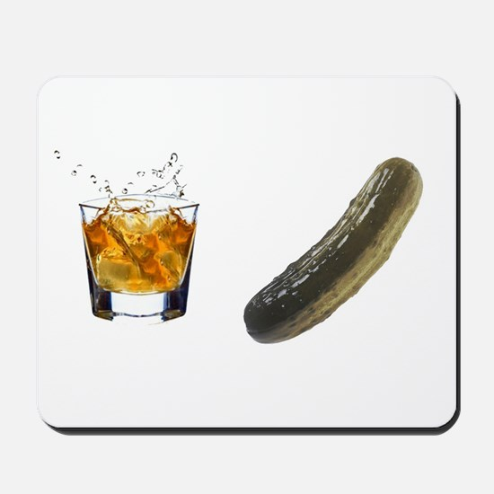 whiskey pickle Mousepad