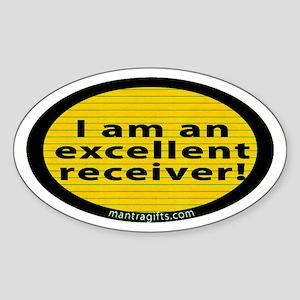 Excellent Receiver Oval Sticker