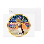 XmasAngel - Beagle Greeting Cards (Pk of 20)