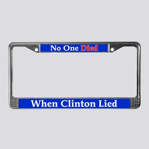 Clinton Lied License Plate Frame