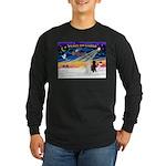XmasSunrise/2 Std Poodles Long Sleeve Dark T-Shirt