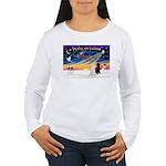 XmasSunrise/2 Std Poodles Women's Long Sleeve T-Sh