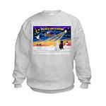 XmasSunrise/2 Std Poodles Kids Sweatshirt
