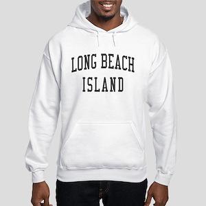 Long Beach Island New Jersey NJ Black Hooded Sweat