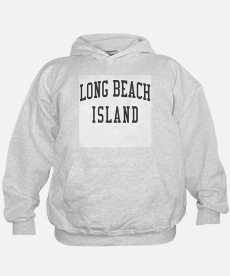 Long Beach Island New Jersey NJ Black Hoodie