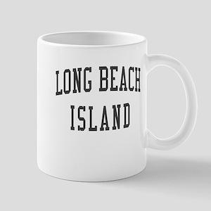 Long Beach Island New Jersey NJ Black Mug