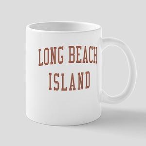 Long Beach Island New Jersey NJ Red Mug