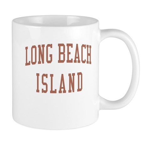 Long Beach Island New Jersey NJ Red Mug