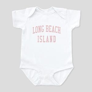Long Beach Island New Jersey NJ Pink Infant Bodysu