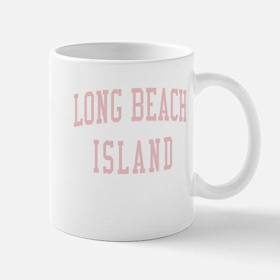 Long Beach Island New Jersey NJ Pink Mug