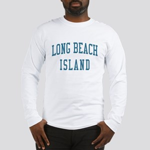 Long Beach Island New Jersey NJ Blue Long Sleeve T