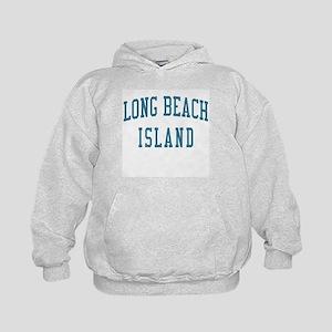 Long Beach Island New Jersey NJ Blue Kids Hoodie
