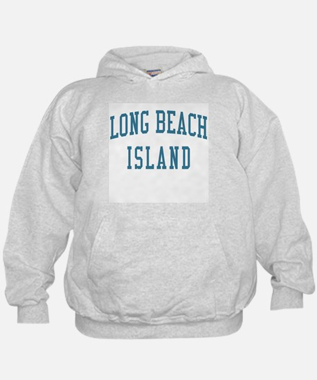 Long Beach Island New Jersey NJ Blue Hoodie