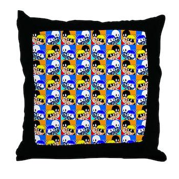 Courageous Man Op Art Throw Pillow